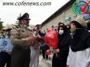 قدردانی  از کادر درمانی و مدافعان سلامت در بیمارستان هاجر نیروی زمینی ارتش