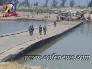 تعمیر پل موقت عنافچه باوی توسط ارتش