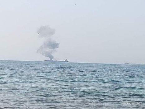 هدف قرار گیری یک نفتکش در نزدیکی بندر بانیاس سوریه توسط یک پهپاد