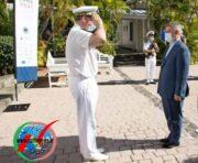 احترام نظامی فرمانده نیروی دریایی فرانسه به فرمانده ایرانی