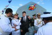 شرکت فرمانده نیروی دریایی ایران در رژه دریایی ارتش روسیه