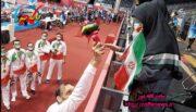 تقدیر تیم ملی والیبال نشسته از مادر شهیدی که ژاپنی است